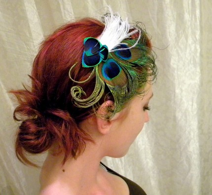 Alanna Bridal Peacock Feather